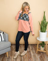 Wandering Through Winter Pullover - Blush
