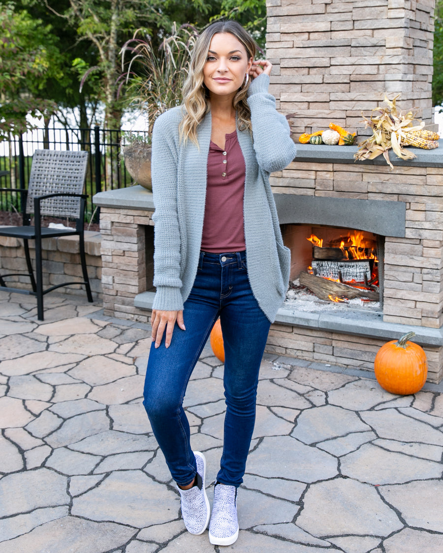 Warm And Toasty Cardigan - Grey