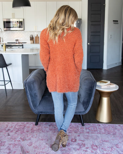 Way Out West Cardigan - Rust