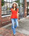 Weekend In Nashville Top - Poppy Red