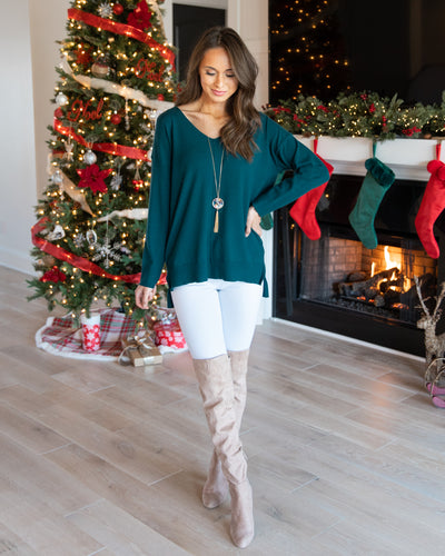 Weekend Memories Sweater - Dark Teal