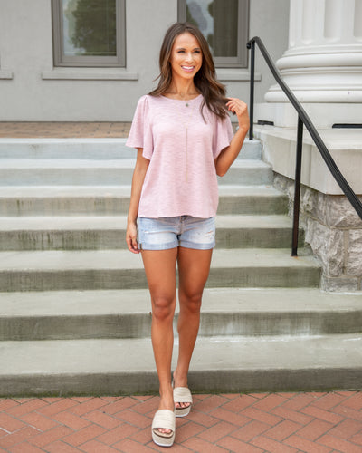 Weekend Outing Top - Blush