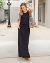Weekend Retreat Maxi Dress - Black