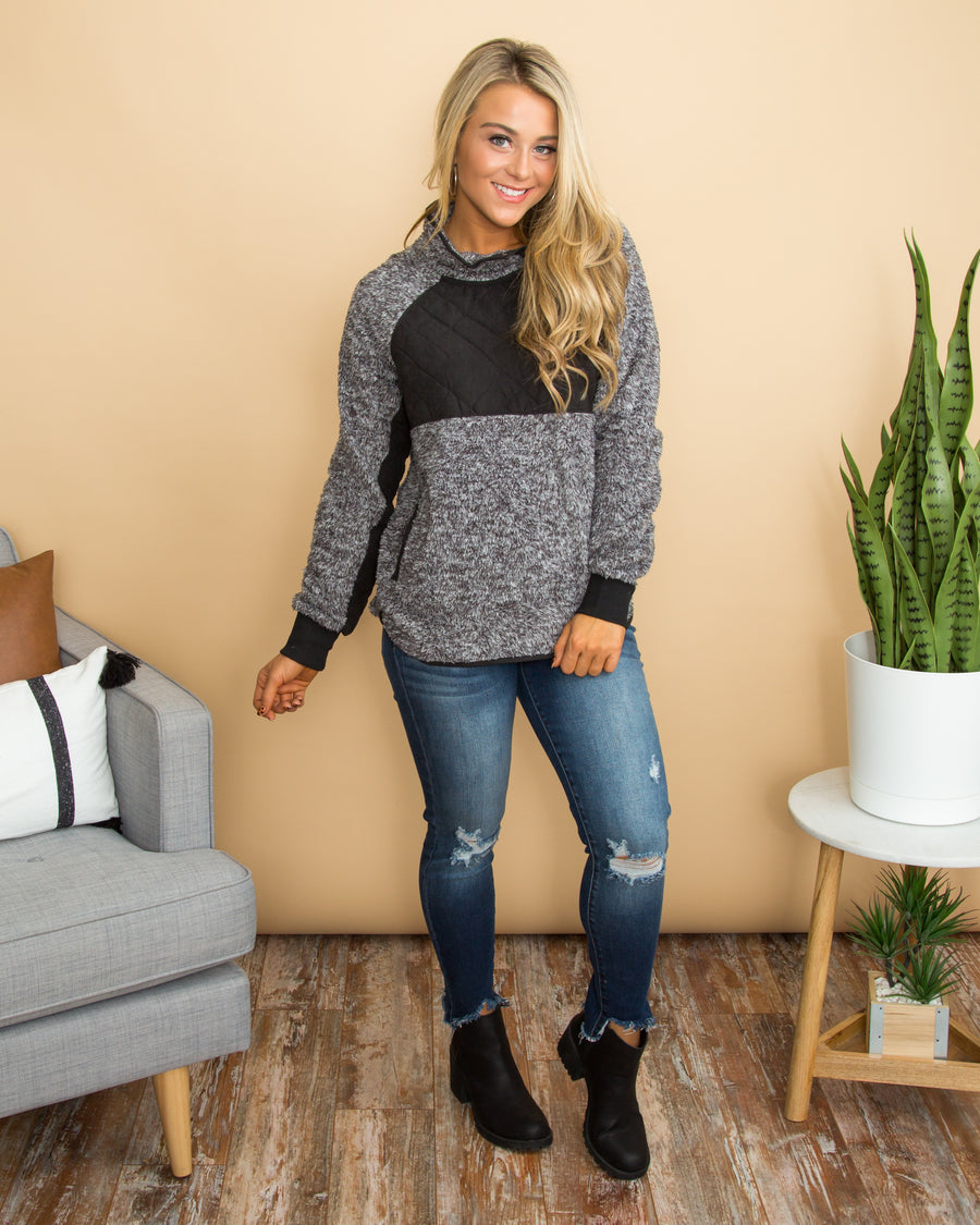 Welcoming Winter Pullover - Charcoal