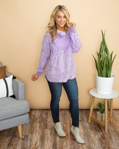Welcoming Winter Pullover - Purple