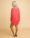 West Coast Winning Open Knit Cardigan - Coral