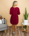 What About Love Dress - Burgundy