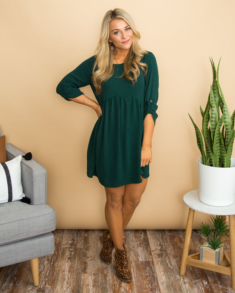 What About Love Dress - Hunter Green