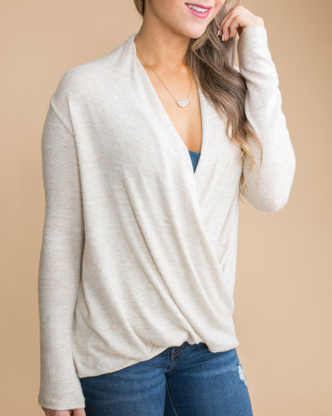 What I Had In Mind Draped Top - Ivory