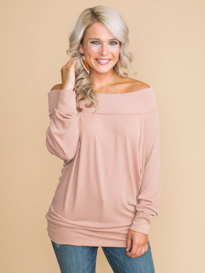 What Matters Most Off-The-Shoulder Top - Mauve