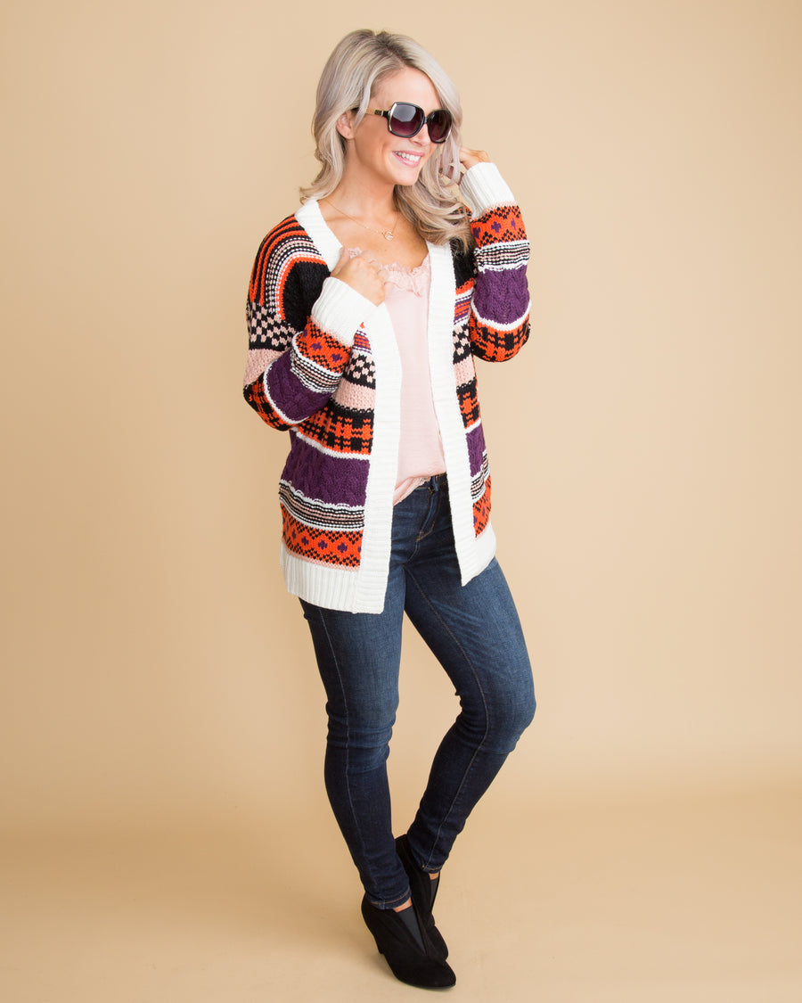 What's Your Move Knit Cardigan - Multi