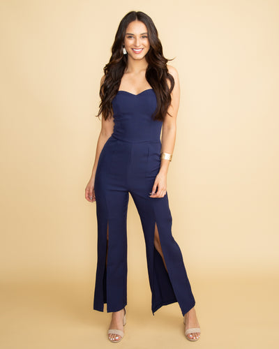 When It's The Weekend Jumpsuit - Navy