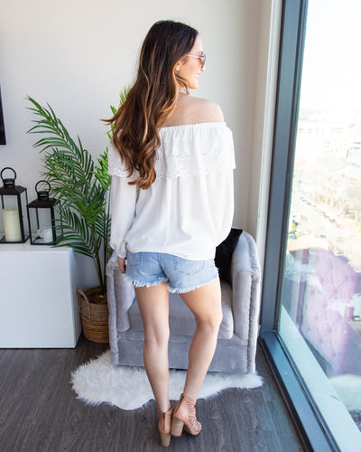 When You Were Mine Off-Shoulder Top - Off White