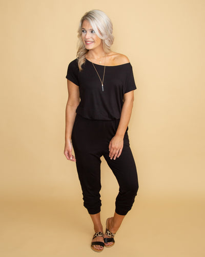 Who's That Girl Jumpsuit - Black