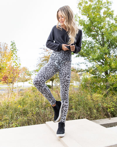 Wild Ideas Ultra-Soft Brushed Leggings - Grey