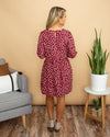 Wild About You Dress - Burgundy