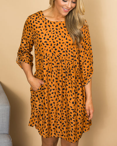 Wild About You Dress - Camel