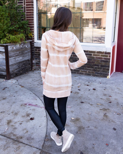 Winding Down Hoodie - Tan/Cream