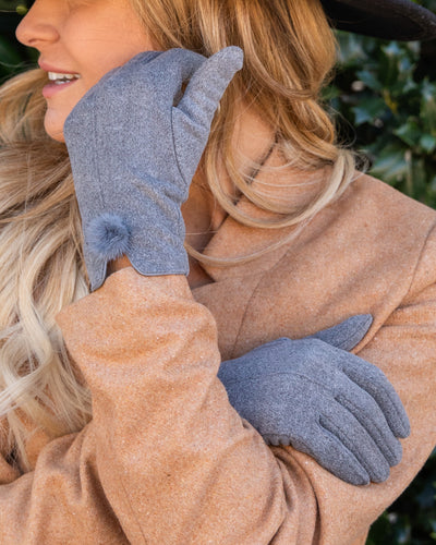 Winter Wonderland Gloves - Grey
