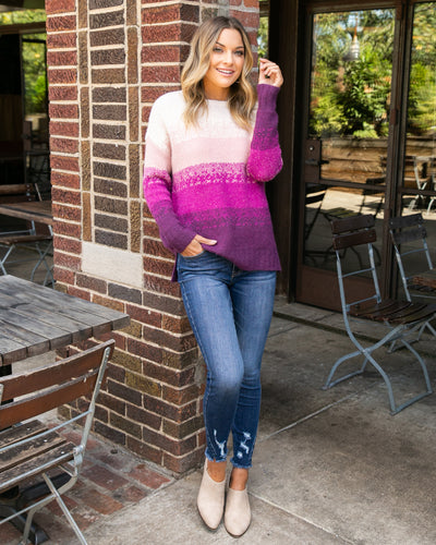 Wishing For The Weekend Sweater - Pink Multi