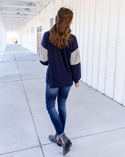 Worth A Try Top - Navy