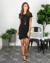 Worth My Time Dress - Black
