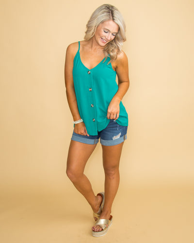 You Make It Easy Button Tank - Jade