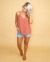 You Make It Easy Button Tank - Marsala