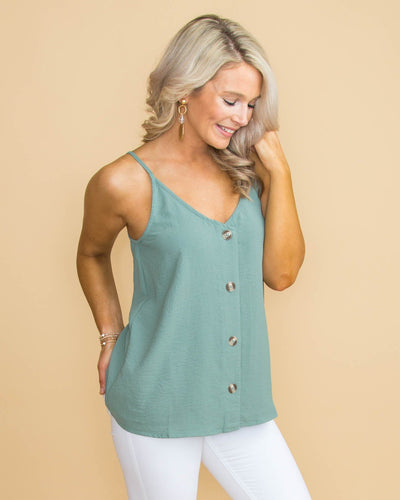You Make It Easy Button Tank - Sage