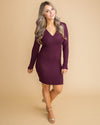 Your Advantage Knot Dress - Plum