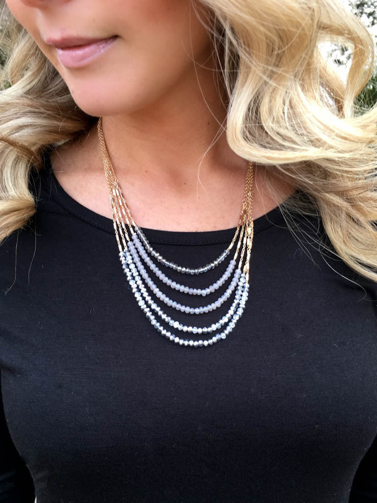 Libby Layered Necklace - Silver Mix