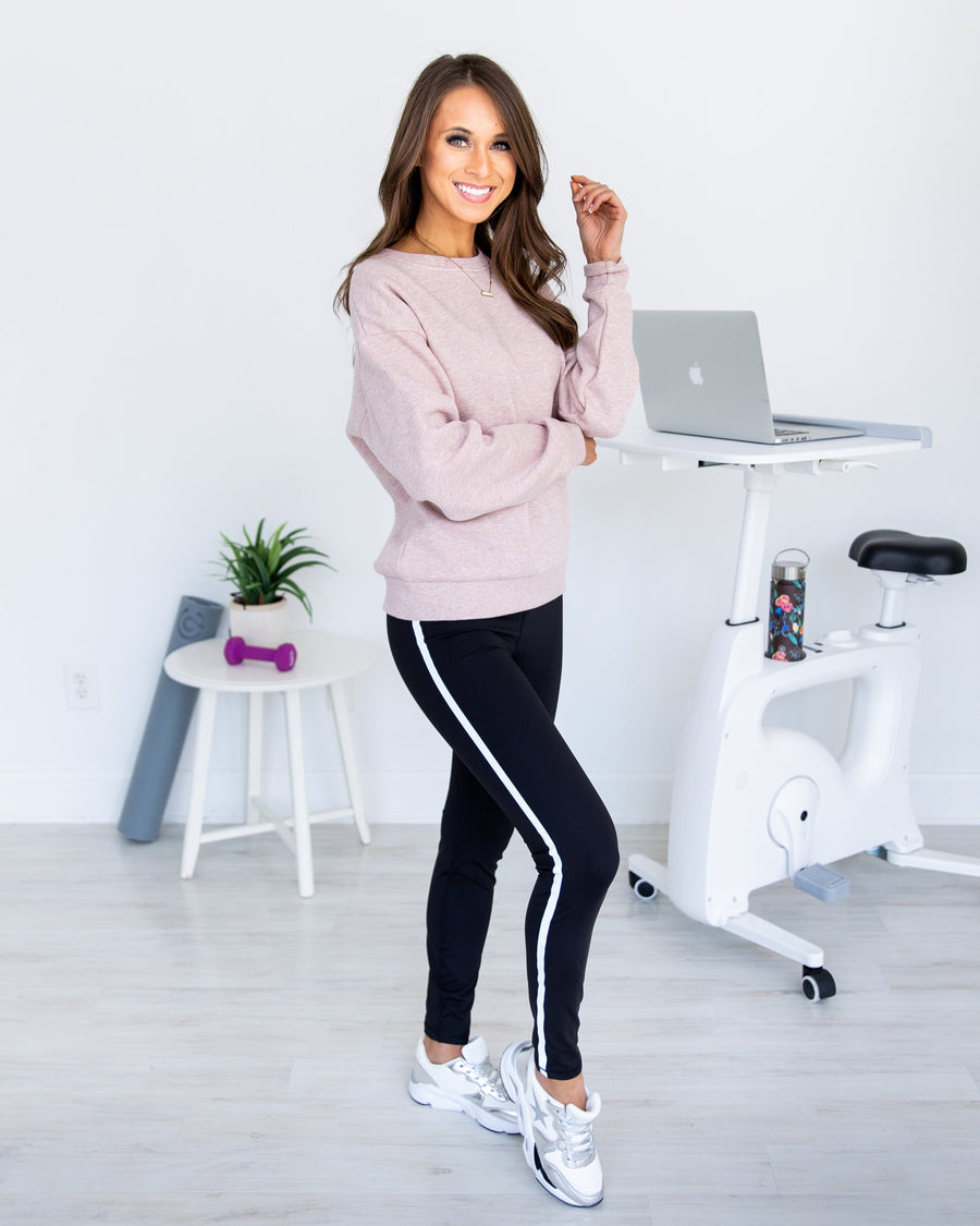 Reflect On Your Goals Leggings - Black
