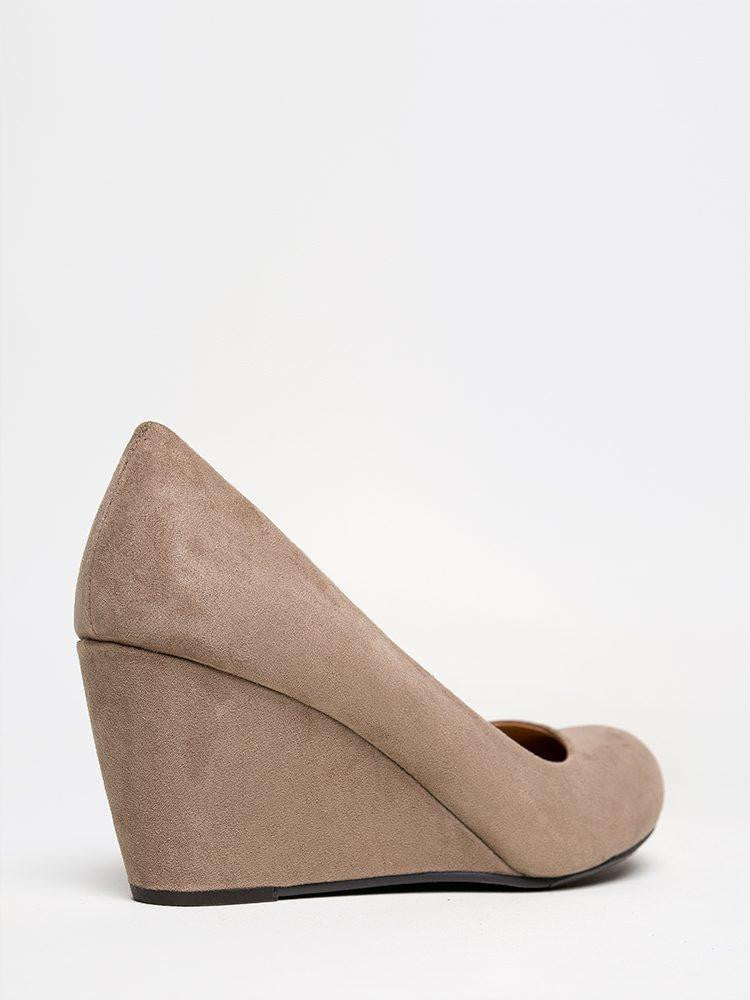 4b60eed9b8b Chinese Laundry Nima Wedge Pump - Taupe - Eleven Oaks Boutique