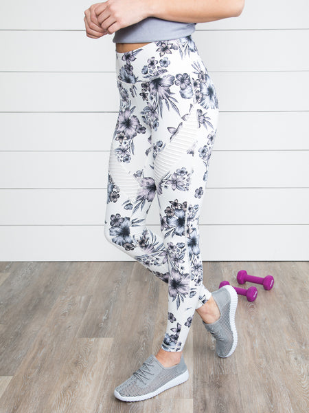 Fearless Floral Legging - Off White