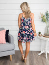 Morningside Floral Dress - Navy