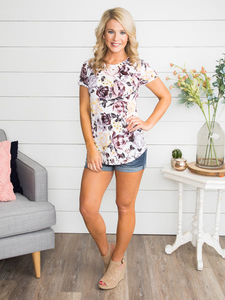 Magnolia Gardens Floral Top - Off White