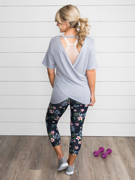 Carefree And Composed Tunic - Dusty Blue
