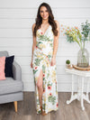 A Forever Summer Floral Maxi Dress - Off White