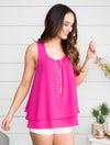 A Love That Lasts Tank - Fuchsia