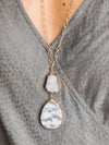 Marina Druzy Stone Necklace - Off White