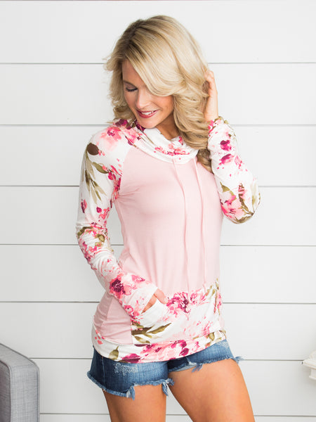 Say You'll Be My Darling Floral Tunic - Blush