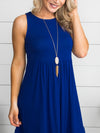 Here In My Heart Dress - Cobalt