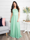 A Flawless Engagement Lace Up Dress - Mint