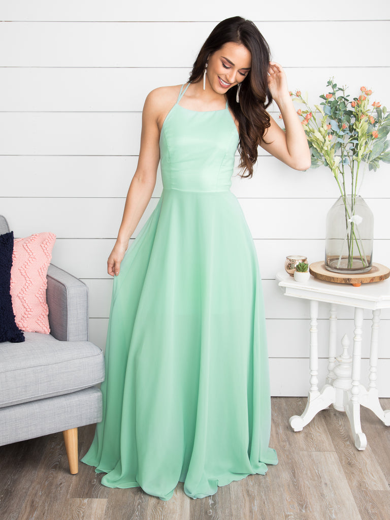 A Flawless Engagement Lace Up Dress - Mint – Eleven Oaks Boutique