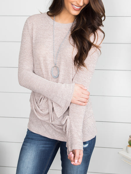 My One And Only Top - Taupe/Grey