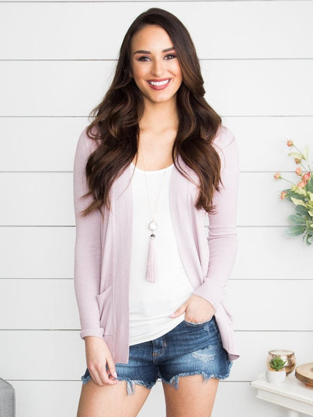 Picking Favorites Cardigan - Dusty Lilac