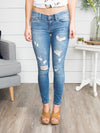 Emily Distressed Skinny Jeans - Medium Wash