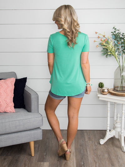 Just Can't Wait Cross Top - Mint