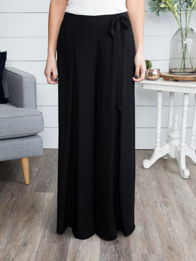 No One Can Compete Palazzo Pants - Black