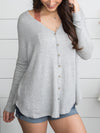 Where We Belong Knot Top - Grey